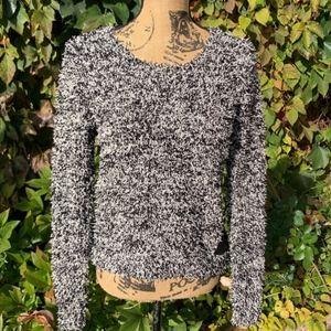 OLIVE + OAK Fringed Sweater, L